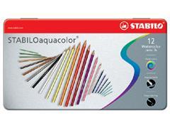 Kleurpotloden STABILO aquacolor 1612 blik à 12 kleuren