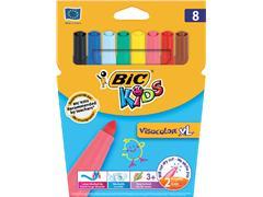 Kleurstift Bic Kids Visacolor XL blister à 8 stuks assorti