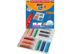 Kleurstift BicKid Couleur Schoolbox 144 stuks assorti