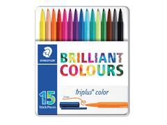 Kleurstift Staedtler 323 Triplus color blik à 15 assorti