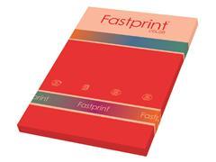 Kopieerpapier Fastprint A4 120gr felrood 100vel