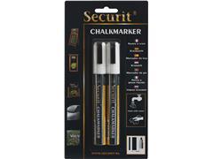 KRIJTSTIFT SECURIT SMA-510 SCHUIN 2-6MM WIT