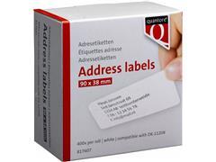 LABEL ETIKET QUANTORE DK-11208 38MMX90MM ADRES WIT
