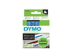 Labeltape Dymo 45806 D1 720860 19mmx7m zwart op blauw