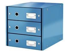 Ladenbox Leitz WOW Click & Store 3 laden blauw