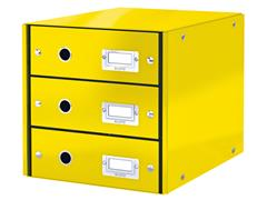 Ladenbox Leitz WOW Click & Store 3 laden geel