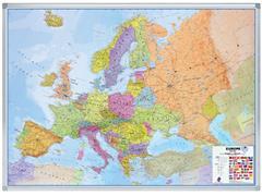 LANDKAART LEGAMASTER EUROPA 102X141 BESCHRIJFB/MAGN