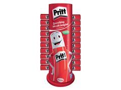 Lijmstift Pritt Carrousel bestaande uit 30 Pritt sticks 43 gr en 57 Pritt sticks 22 gr.