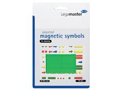 Magneet Legamaster symbolen 10mm groen assorti