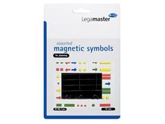 Magneet Legamaster symbolen 10mm zwart assorti