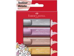 Markeerstift Faber Castell metallic blister à 4 stuks assorti