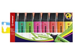 Markeerstift STABILO Boss 70 etui à 8 kleuren
