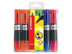 Markeerstift STABILO Luminator 71/6 etui à 6 kleuren