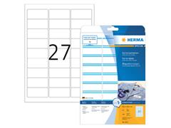 Naambadge etiket Herma 4513 63.5x29.6mm wit/blauw