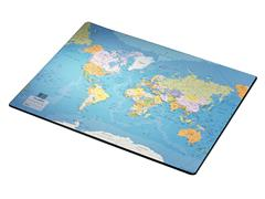 Onderlegger Esselte 40x53cm met wereldkaart Engels