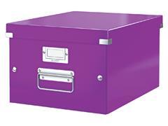 Opbergbox Leitz WOW Click & Store 265x188x335mm paars
