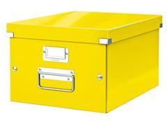 Opbergbox Leitz WOW Click & Store 281x200x370mm geel