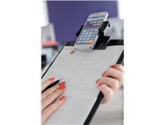 Papierklem klembord LPC met houder smartphone