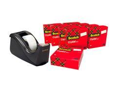 Plakband Scotch Crystal 600 19mmx33m transparant + gratis C60 houder