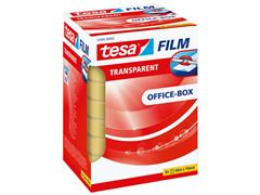 Plakband Tesa film 19mmx66m transparant 8 rollen