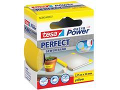 Plakband Tesa textiel 38mmx2.75m geel