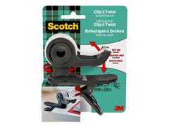 DISPENSER CLIP SCOTCH + 1ROL 19X8.89M MAGIC TAPE