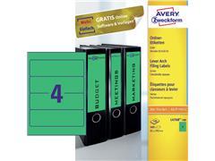 Rugetiket Avery breed 61x192mm zelfklevend groen