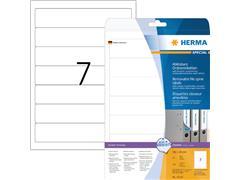 Rugetiket Herma smal 38x192mm verwijderbaar wit