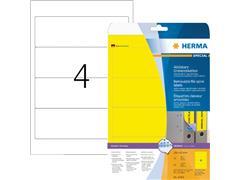 Rugetiket Herma breed 61x192mm verwijderbaar geel