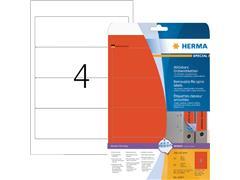 Rugetiket Herma breed 61x192mm verwijderbaar rood