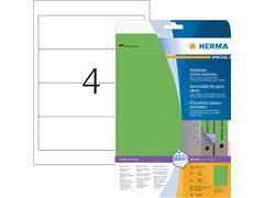 Rugetiket Herma breed 61x192mm verwijderbaar groen