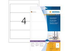 Rugetiket Herma breed 61x192mm zelfklevend wit