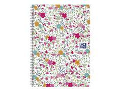 Spiraalblok Oxford Floral B5 lijn 60vel wit