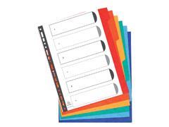 Tabbladen Exacompta 11-gaats extra breed 6-delig karton
