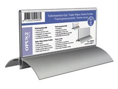 Tafelnaambord OPUS 2 61x150mm acryl aluminium
