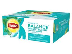 THEE LIPTON BALANCE GREEN TEA MINT 1.5GR MET ENVELOP