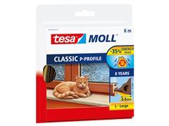 Tochtstrip Tesa Moll 05390 P profiel 9mmx6m bruin