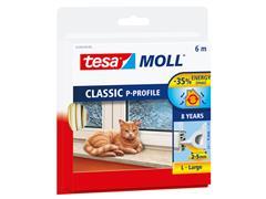 Tochtstrip Tesa Moll 05390 P profiel 9mmx6m wit