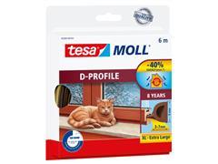 Tochtstrip Tesa Moll 05393 D profiel 9mmx6m bruin