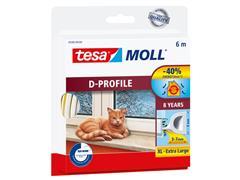 Tochtstrip Tesa Moll 05393 D profiel 9mmx6m wit