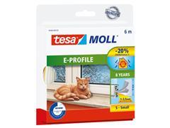 Tochtstrip Tesa Moll 05463 E profiel 9mmx6m wit