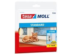 Tochtstrip Tesa Moll 05559 i profiel 9mmx6m wit