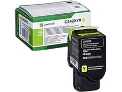Tonercartridge Lexmark C242XY0 geel