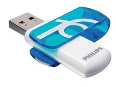 USB-stick 2.0 Philips Vivid 16GB blauw