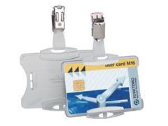 Veiligheidspashouder Durable 8118 open met clip 54x85mm