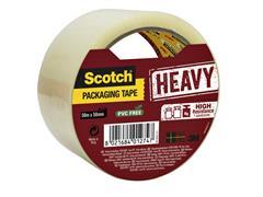 Verpakkingstape Scotch Heavy 50mmx50m transparant