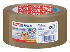Verpakkingstape Tesa 50mmx66m bruin ultra sterk PVC