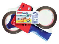 Verpakkingstape Tesa 50mmx66m ultra sterk 2rol met dispenser