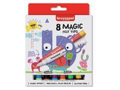 Viltstift Bruynzeel Kids Magic Points blister à 8 stuks assorti