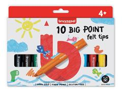 Viltstift Bruynzeel Kids big point blister à 10 stuks assorti